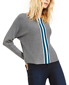 INC Petite Varsity Stripe Sweater, Created for Macy's