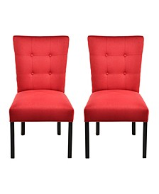 La Mode Tufted Dining Chair Set, Set of 2