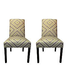 Sole Designs Nouvea Upholstered Dining Chair Set, Set of 2