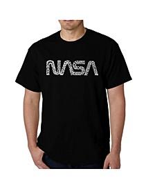 Men's Word Art T-Shirt - Worm Nasa