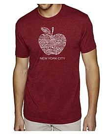 Men's Premium Word Art T-Shirt - Neighborhoods in NYC