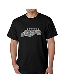 Men's Word Art T-Shirt - Guitar Head