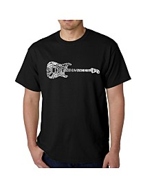 LA Pop Art Men's Word Art T-Shirt - Rock Guitar