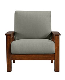 Maison Hill Mission Style Arm Chair with Exposed Cherry Wood Frame