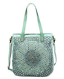 Old Trend Stellar Stud Leather Tote Bag