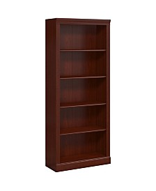 Kathy Ireland Home by Bush Furniture Bennington 5 Shelf Bookcase