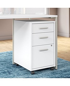Method 3 Drawer Mobile File Cabinet - Assembled