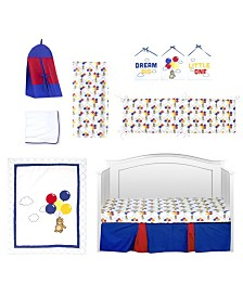 Pam Grace Creations Bears and Balloons 10 Piece Crib Bedding Set