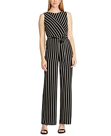 Striped Jersey Jumpsuit