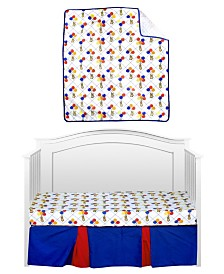 Pam Grace Creations Bears and Balloons 3 Piece Crib Bedding Set