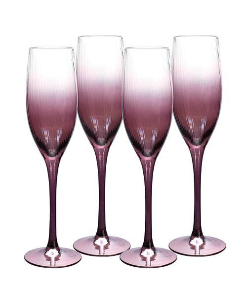 Spode Kingsley Champagne Flute, Set of 4