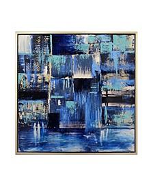 Indigo Framed Canvas