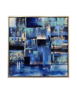 Harp & Finial Indigo Framed Canvas