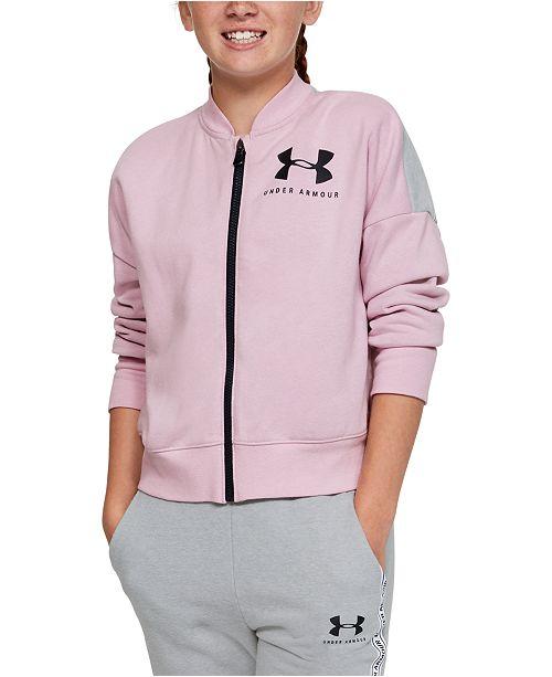 Under Armour Big Girls Colorblocked Fleece Track Jacket
