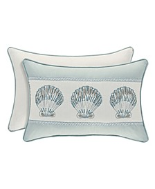 Water's Edge Aqua Boudoir Decorative Throw Pillow