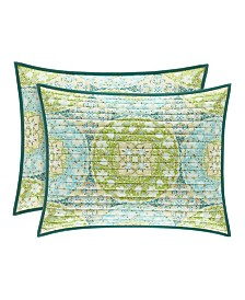 Avalon Green King Quilted Sham