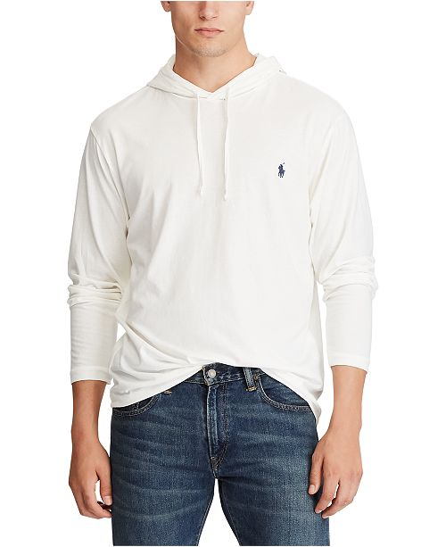 Polo Ralph Lauren Men's Big & Tall Cotton Jersey Hooded T-Shirt