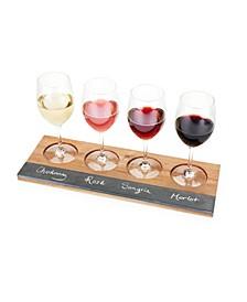 Acacia Wood Wine Flight Board