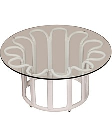 Calla Outdoor Coffee Table with Tempered Glass