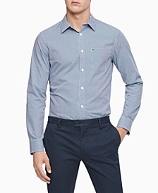 Men's Extra-Fine Cotton Gingham Slim-Fit Shirt