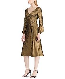 Lauren Ralph Lauren Sateen Long-Sleeve Dress