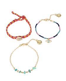 BCBGeneration Festival Shell Woven Bracelet Set