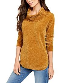 Petite Metallic-Threaded Turtleneck Sweater, Created For Macy's