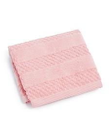 "Velour Stripe Cotton 12"" x 12"" Wash Towel"