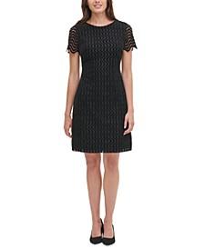 Fleece Lace Shift Dress