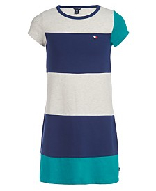 Tommy Hilfiger Little Girls Colorblocked T-Shirt Dress