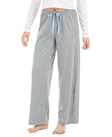 Women's Heart-Print Pajama Pants