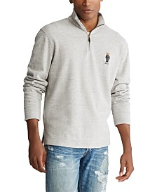 Polo Ralph Lauren Men's Preppy Bear Cotton Quarter-Zip Pullover