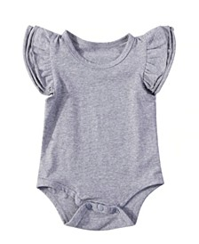 Baby Girl Flutter Sleeve Bodysuit