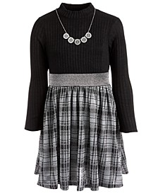 Big Girls Plaid Necklace Dress