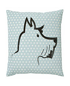 Riverside Scottie Square Pillow