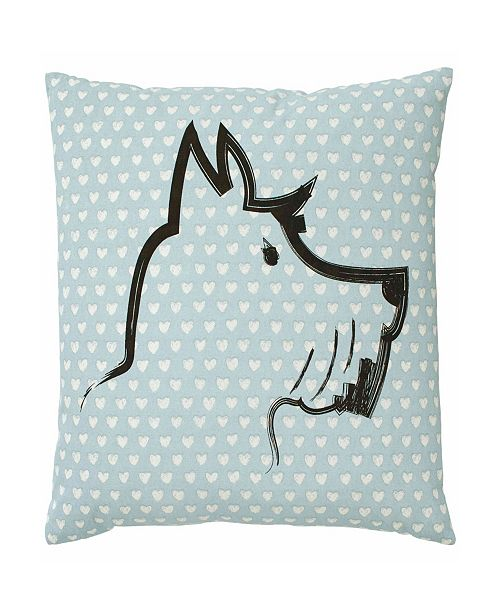 ED Ellen Degeneres Riverside Scottie Square Pillow