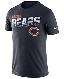 Nike Men's Chicago Bears Sideline Legend Line of Scrimmage T-Shirt