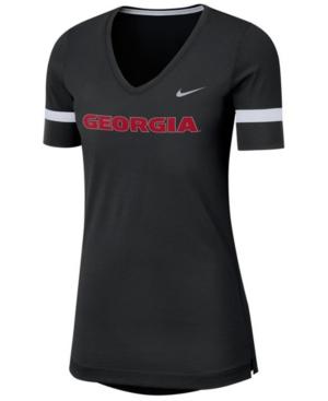 Nike Women's Georgia Bulldogs Fan V-Neck T-Shirt