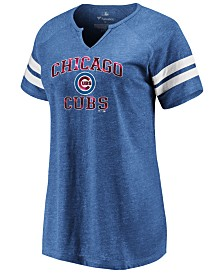Majestic Women's Chicago Cubs Heart and Soul Foil T-shirt