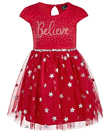 Little Girls Believe Sequined Dress