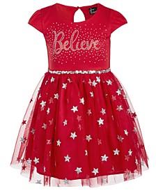 Little Girls Believe Sequined Dress