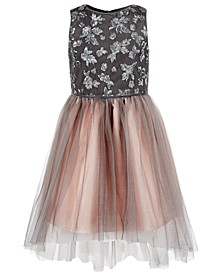 Big Girls Sequined Mesh Dress