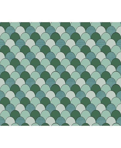 "Sirpi 27"" x 396"" Edwards Geometric Wallpaper"