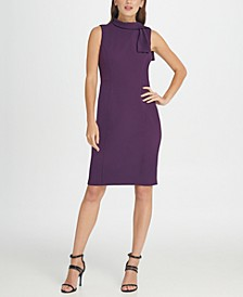 Tie Neck Sheath Dress