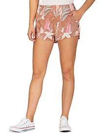 Juniors' Domino Printed Shorts