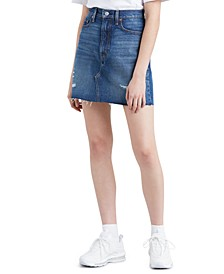Women's Iconic Cotton Denim Mini Skirt