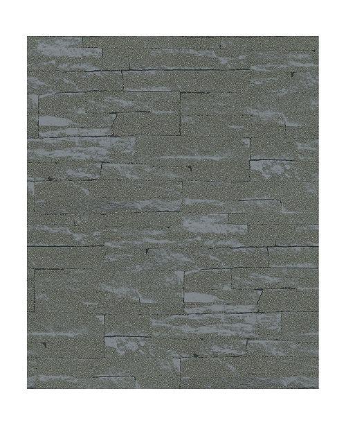 "Marburg 20.5"" x 396"" Rheta Stone Wallpaper"
