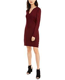 Shiraz Button-Sleeve Shift Dress