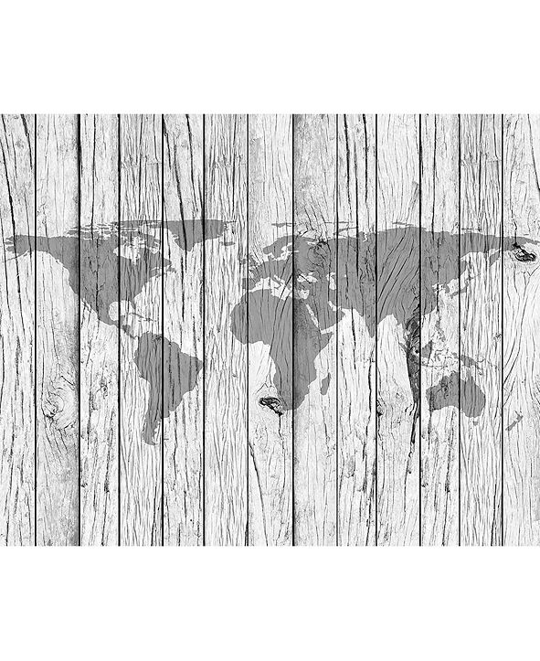 ohpopsi World Map Timber Wall Mural