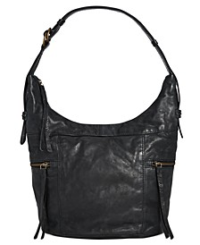 Jolie Washed Leather Hobo